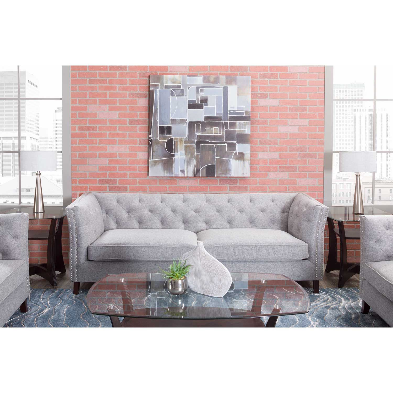 Sofa Entertainment Group Llc Bethany Tufted Sofa