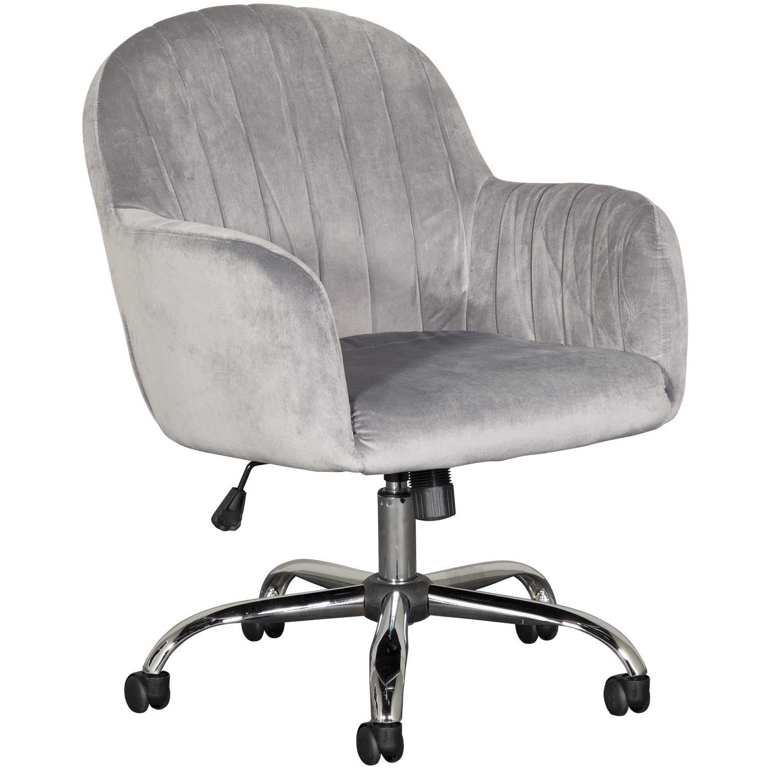 Grey Desk Chair Office Chair Velvet Grey