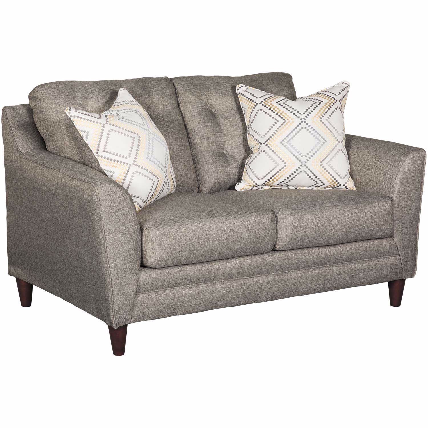 Jensen Sofa Bed Next Jensen Grey Tufted Loveseat