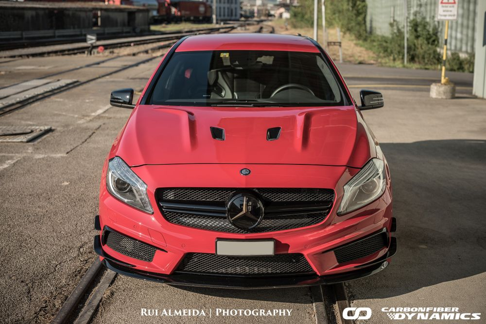 Limousine Car Wallpaper Mercedes Amg A45 Looking Agressive With Boca Carbon Hood