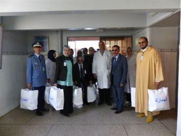 بالصور:مديرية الجمارك بأكادير في زيارة تضامنية لقسم الولادة و رعاية الأم و الرضيع بمستشفى الحسن الثاني بأكادير
