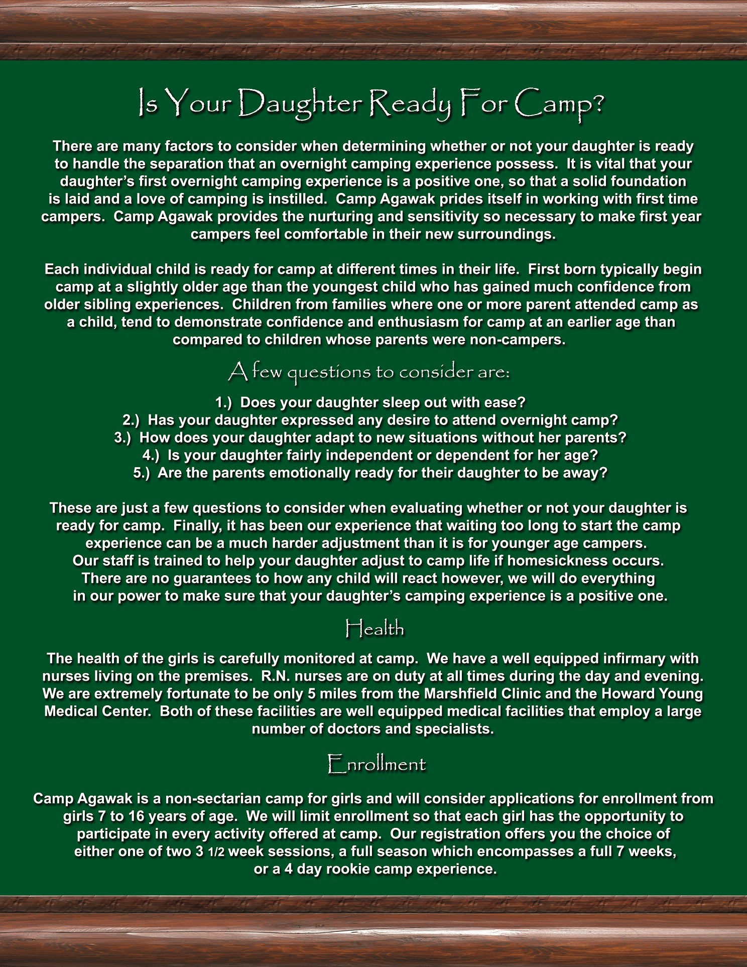 Miles And More Questions Brochure Camp Agawak