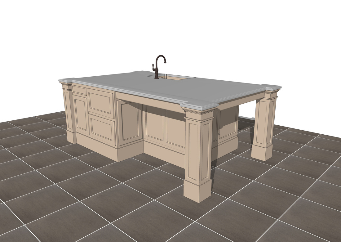 Kitchen Design 3d Model Free 3d Sketchup Kitchen Island Models Usa Architectural Rendering