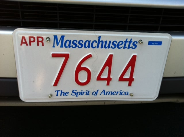 The 2013 winners of the massachusetts rmv low number plate for Motor vehicle revere massachusetts