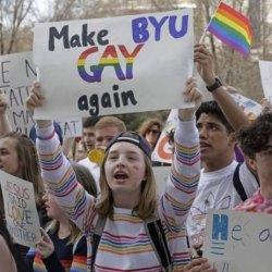 酷新聞:摩門教會大學「禁同志愛」學生大肆抗議