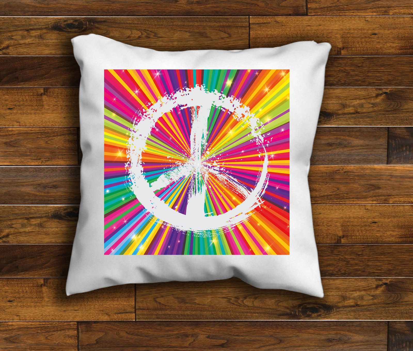 Retro Cushions Retro Cushion Cover Hippie Cushion Cover Love Peace Cushion