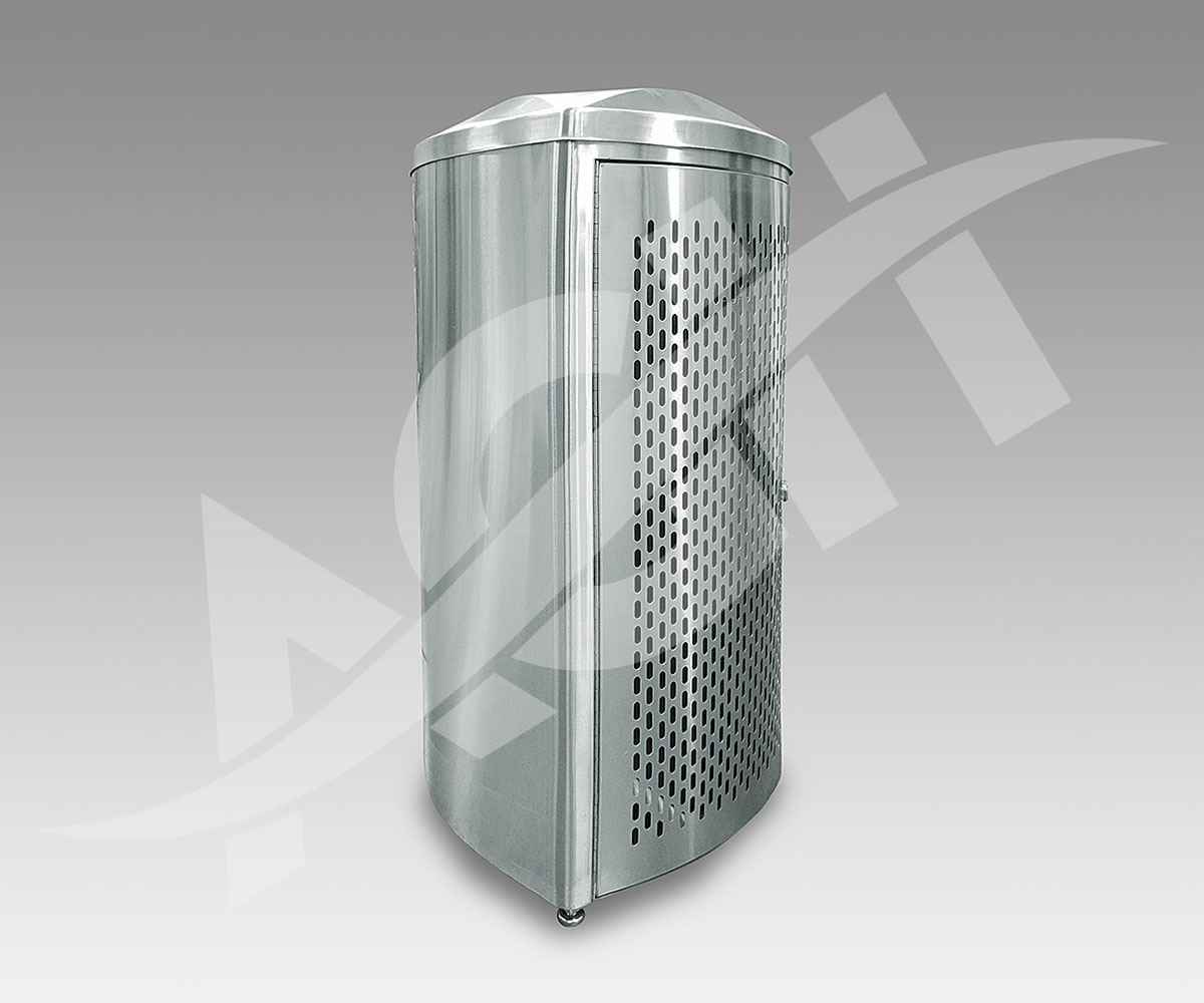 Indoor Garbage Cans 33gal Triangle Stainless Steel Indoor Trash Can Agh