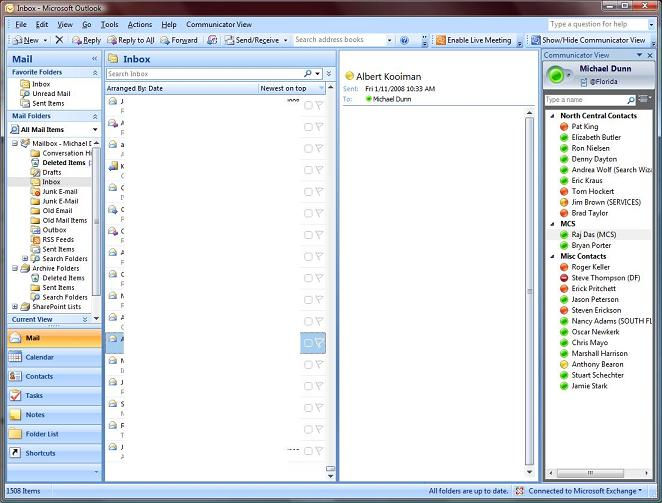 Free Office Communicator Integration Add-On for Outlook 2007 Allows