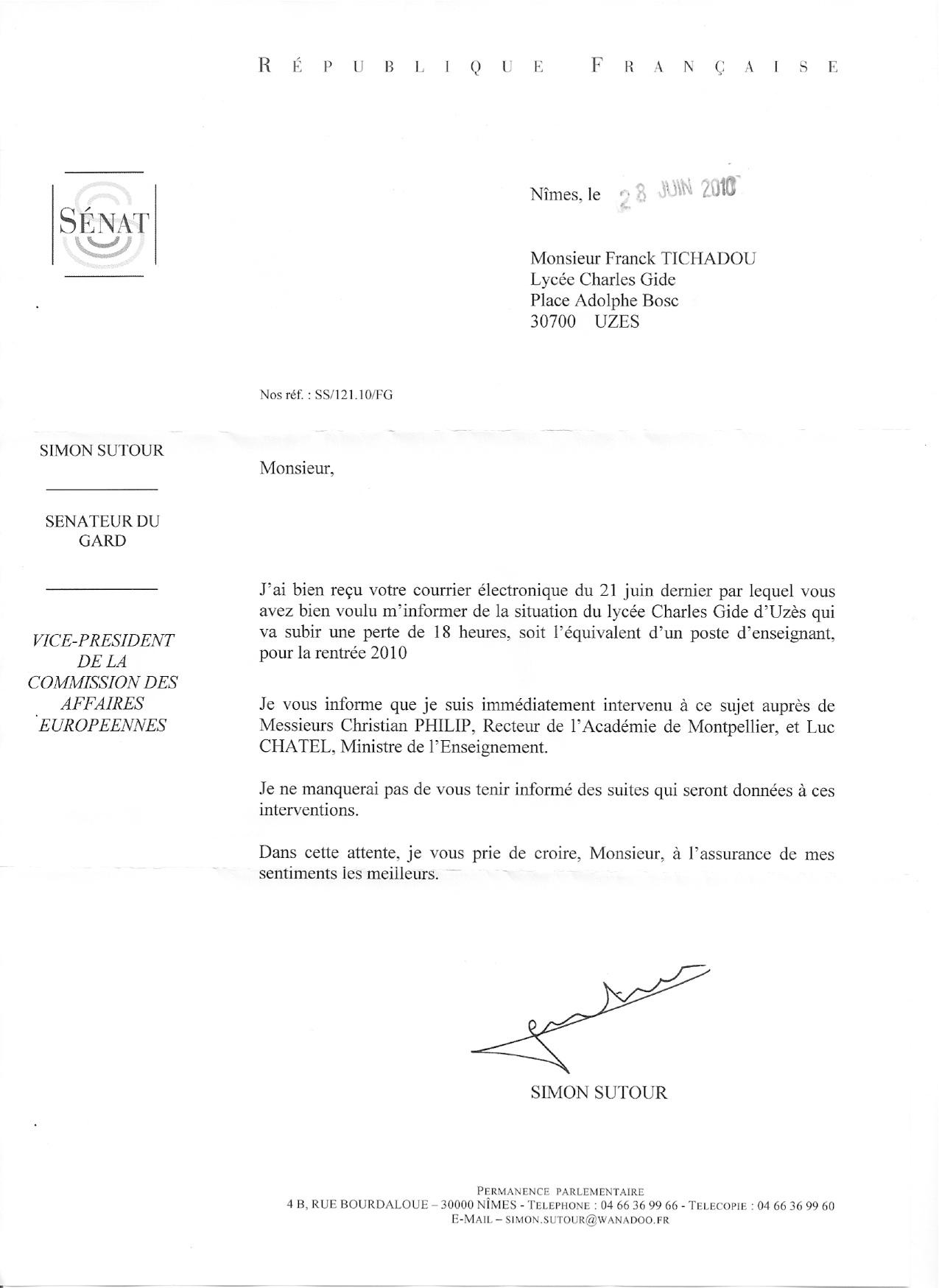 avis sujet lettre administrative education nationale lettre type