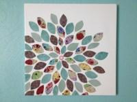 Day 2: Scrapbook Flower Canvas Art | a girl & a pin
