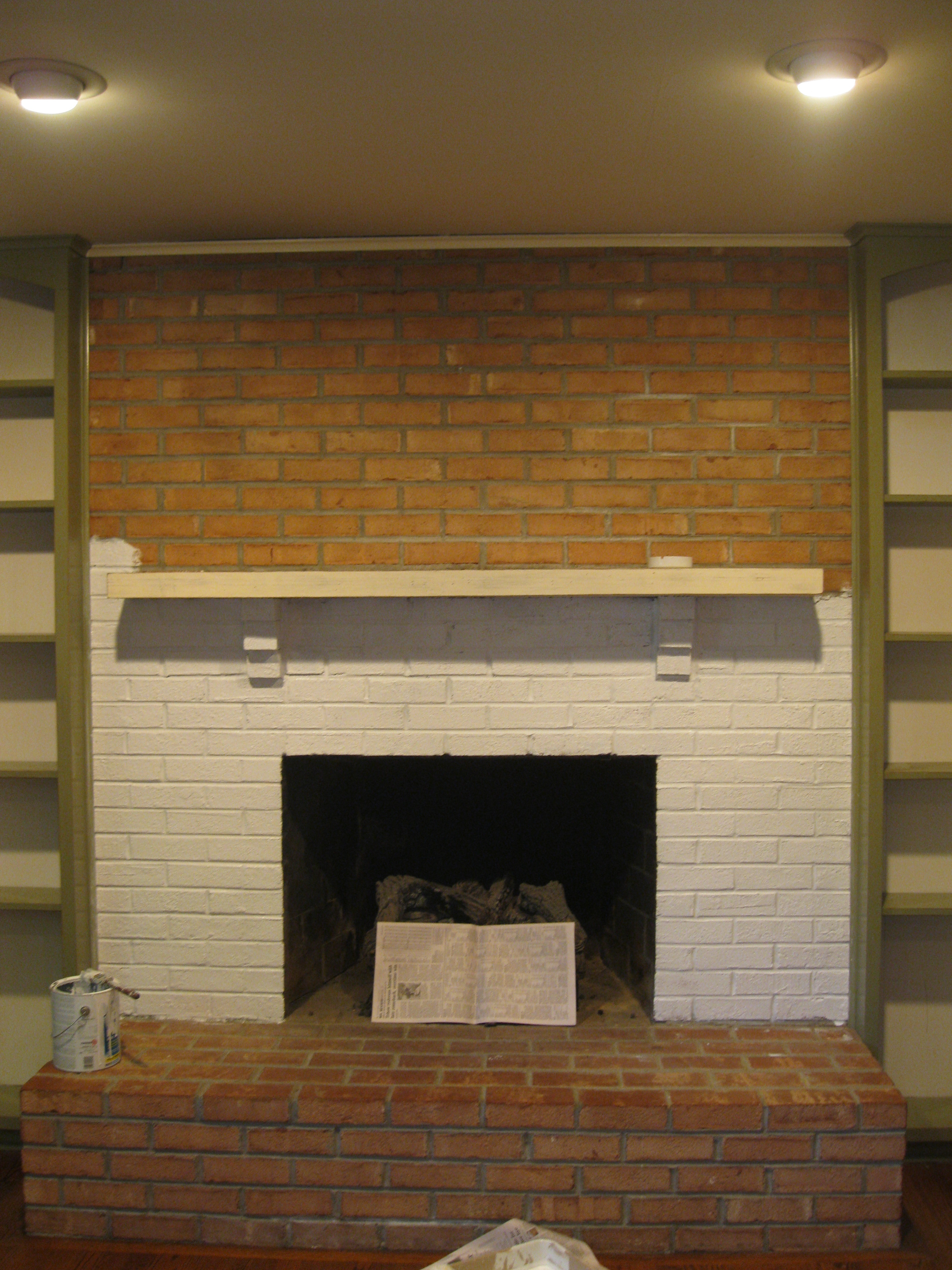 Cover Brick Fireplace With Wood Panels Remodeling A Girl 39s Guide To Diy