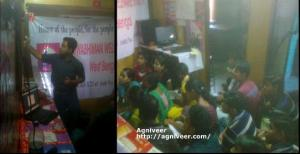 Mr Soumyadeep of Agniveer Bengal with students during first class