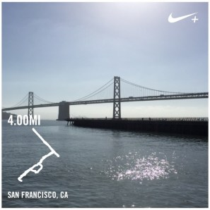 A run while attending a conference in San Francisco