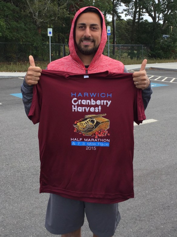 Shirt from the Harwich Cranberry Harvest Half Marathon