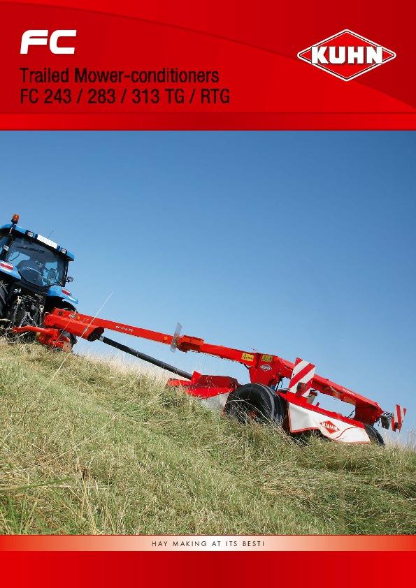 Kuhn FC 243 FC 283 FC 313 FC 313 TG RTG Trailer Mower
