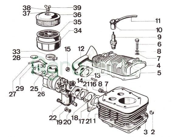 Agropartsgr 4 Stroke Gasoline Engine Cotiemme CA 450 - agropartsgr