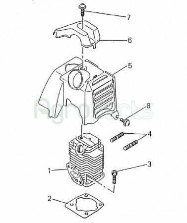 Agropartsgr 2 Stroke Gasoline Engine Mitsubishi TL 26 - agropartsgr