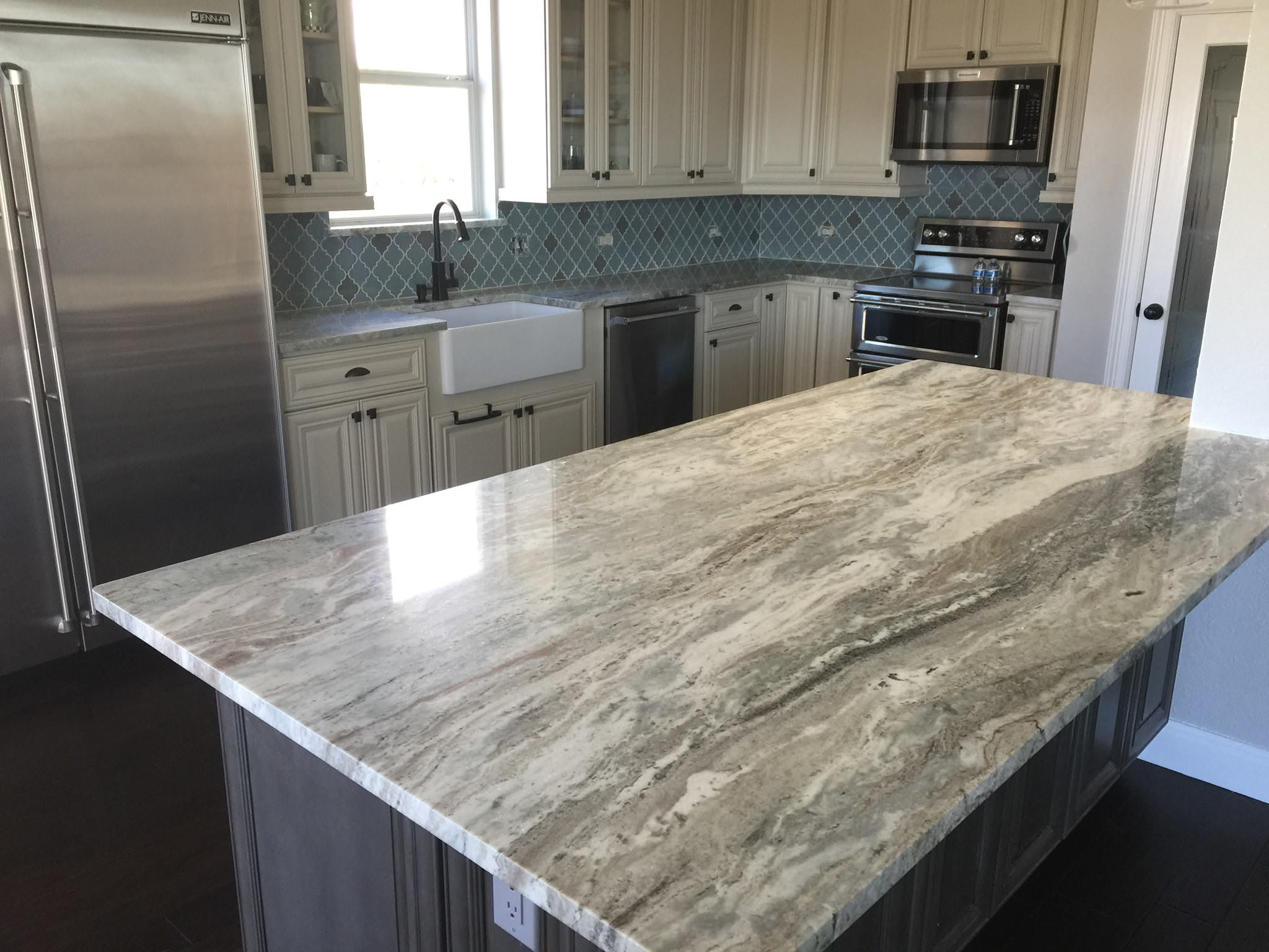 Atlanta Marble Countertops Fantasy Brown Island