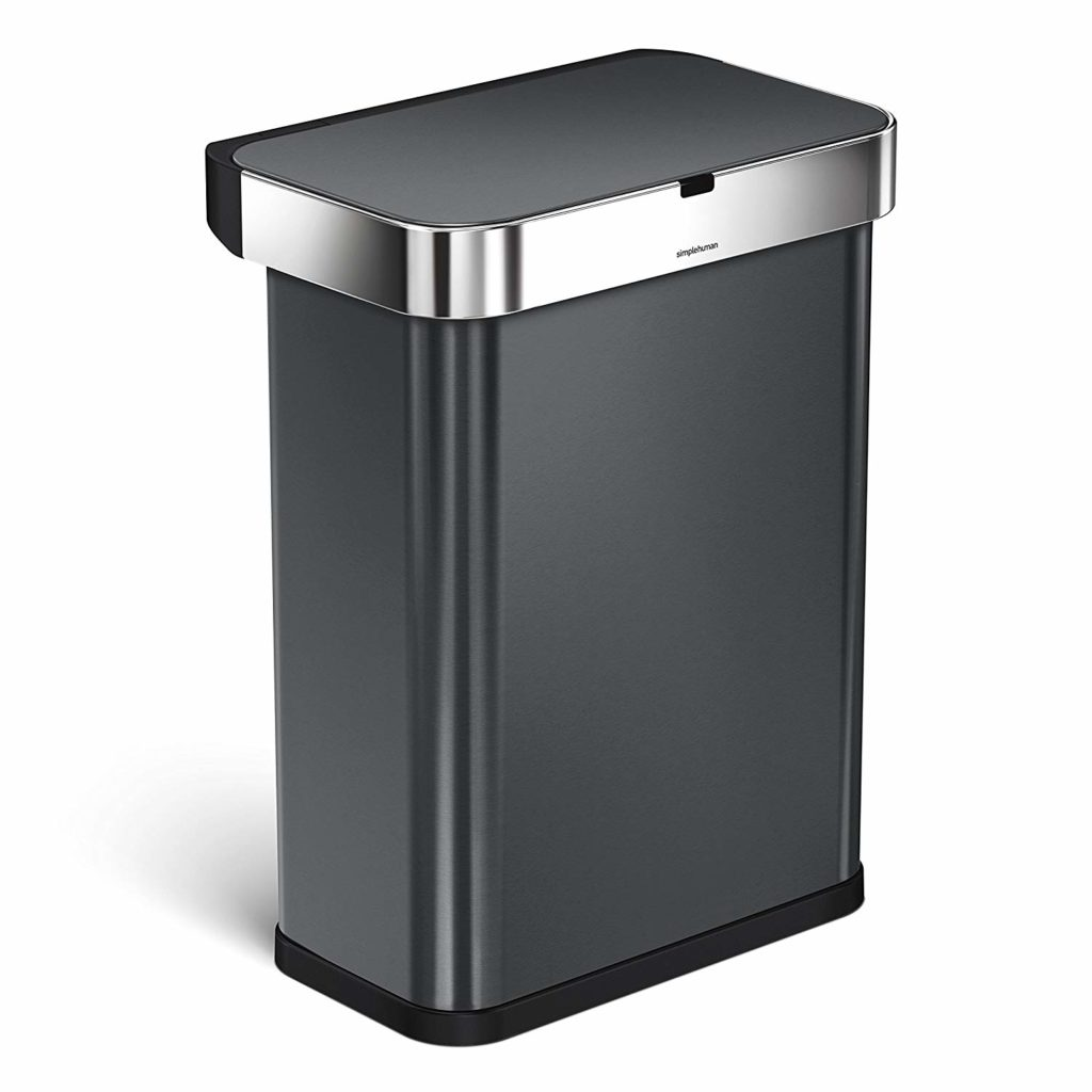 Black Metal Trash Can 7 Best Automatic Sensor Touchless Trash Cans 2019 Reviews