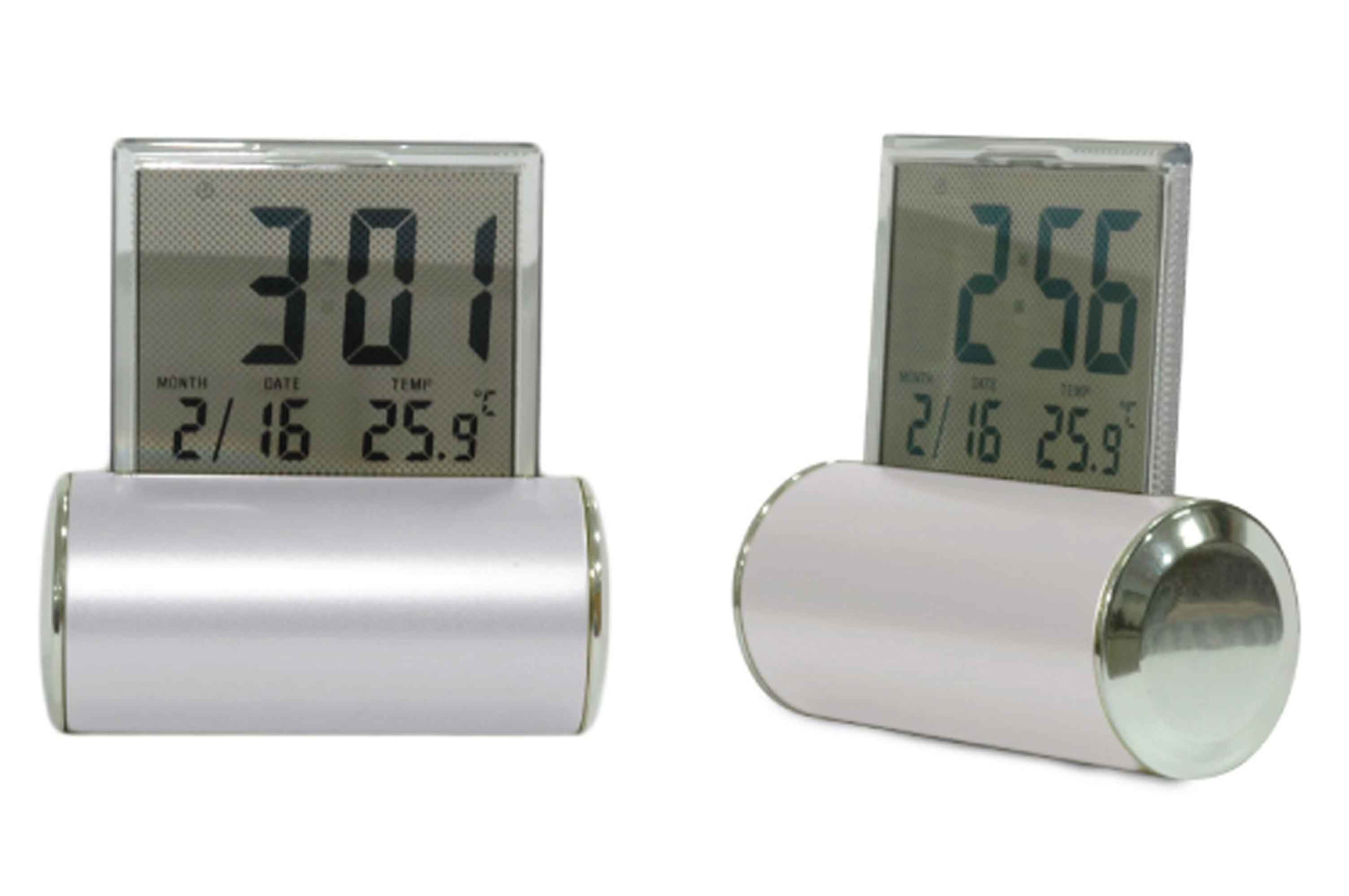 Digital Desk Clock Digital Desk Clock Sliver With Perpetual Calendar
