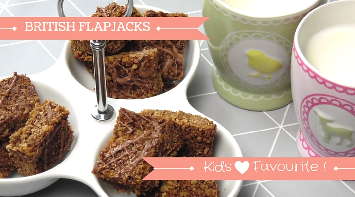 image of small squares of homebaked flapjacks