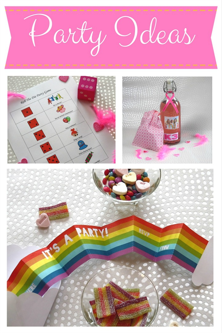 Rainbow Party Invite