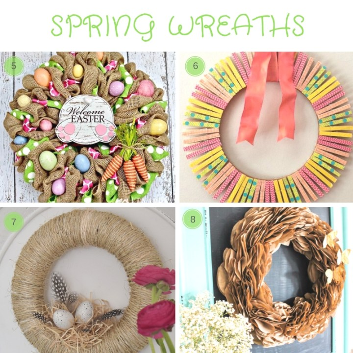 12 DIY Spring Decor Ideas: round-up of stylish easy diy home decor ideas