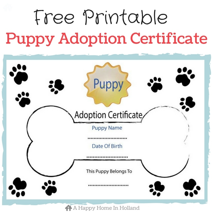 puppy birth certificate template free gallery