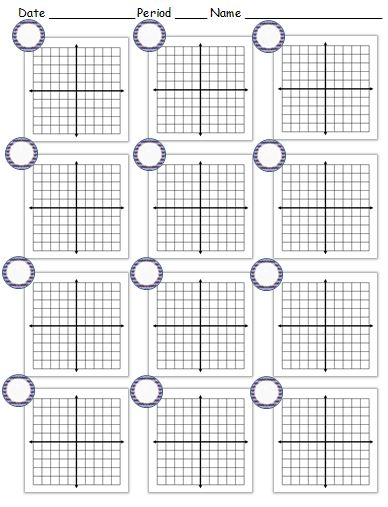 Coordinate Plane teaching math in a virtual reality - numbered graph paper template
