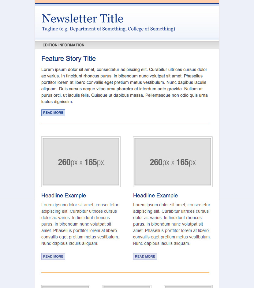 Campaign Monitor Newsletter Templates » Web Services » UF Academic