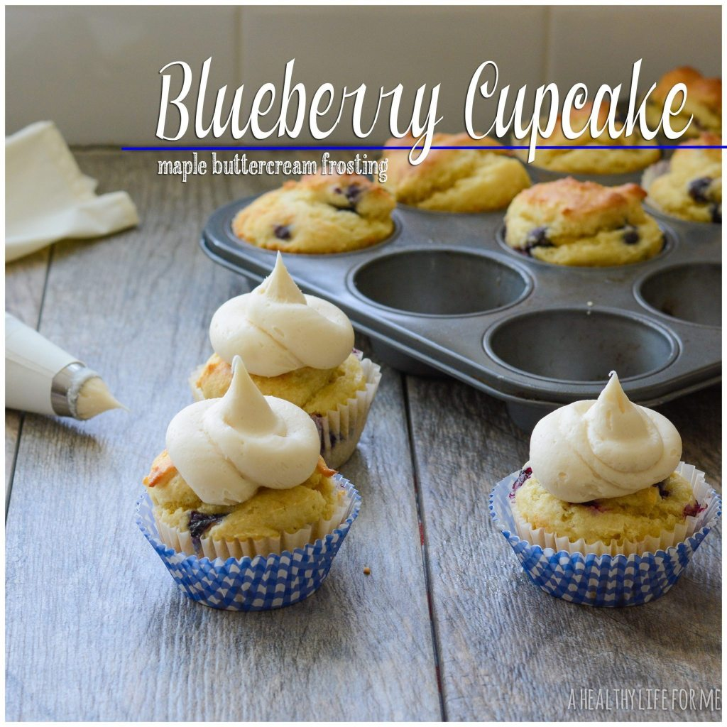 Blueberry Almond Cupcakes With Blueberry Buttercream Frosting Recipes ...