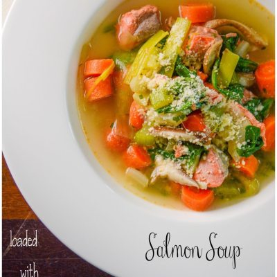 Poached Salmon Soup