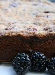 Blackberry Cream Cheese Cake at www.ahealthylifeforme.com
