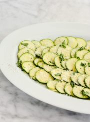 Zucchini Carpacchio a simple, elegant and delicious way to enjoy summer zucchini. | ahealthylifeforme.com