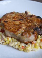 Corn Succotash with grilled Pork Chop @ ahealthylifeforme.com-2
