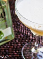 Coconut Margarita made with 1800 Coconut Tequila