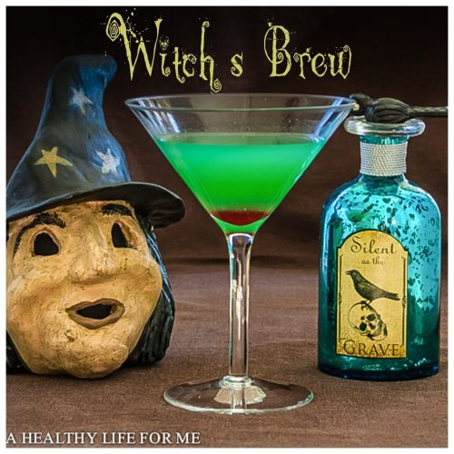 witch's brew cocktail recipe for halloween | ahealthylifeforme.com