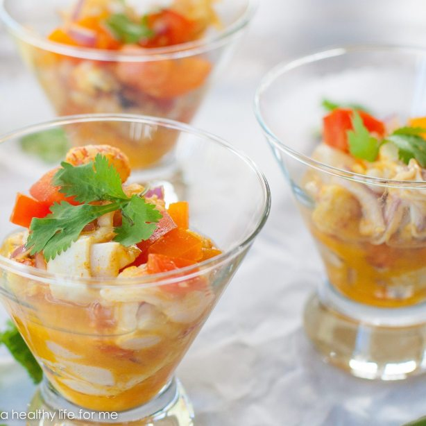 Langostino Ceviche Healthy Gluten Free Paleo Diet Recipe | ahealthylifeforme.com