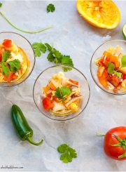 Langostino Ceviche Appetizer Gluten Free Paleo Healthy Recipe | ahealthylifeforme.com