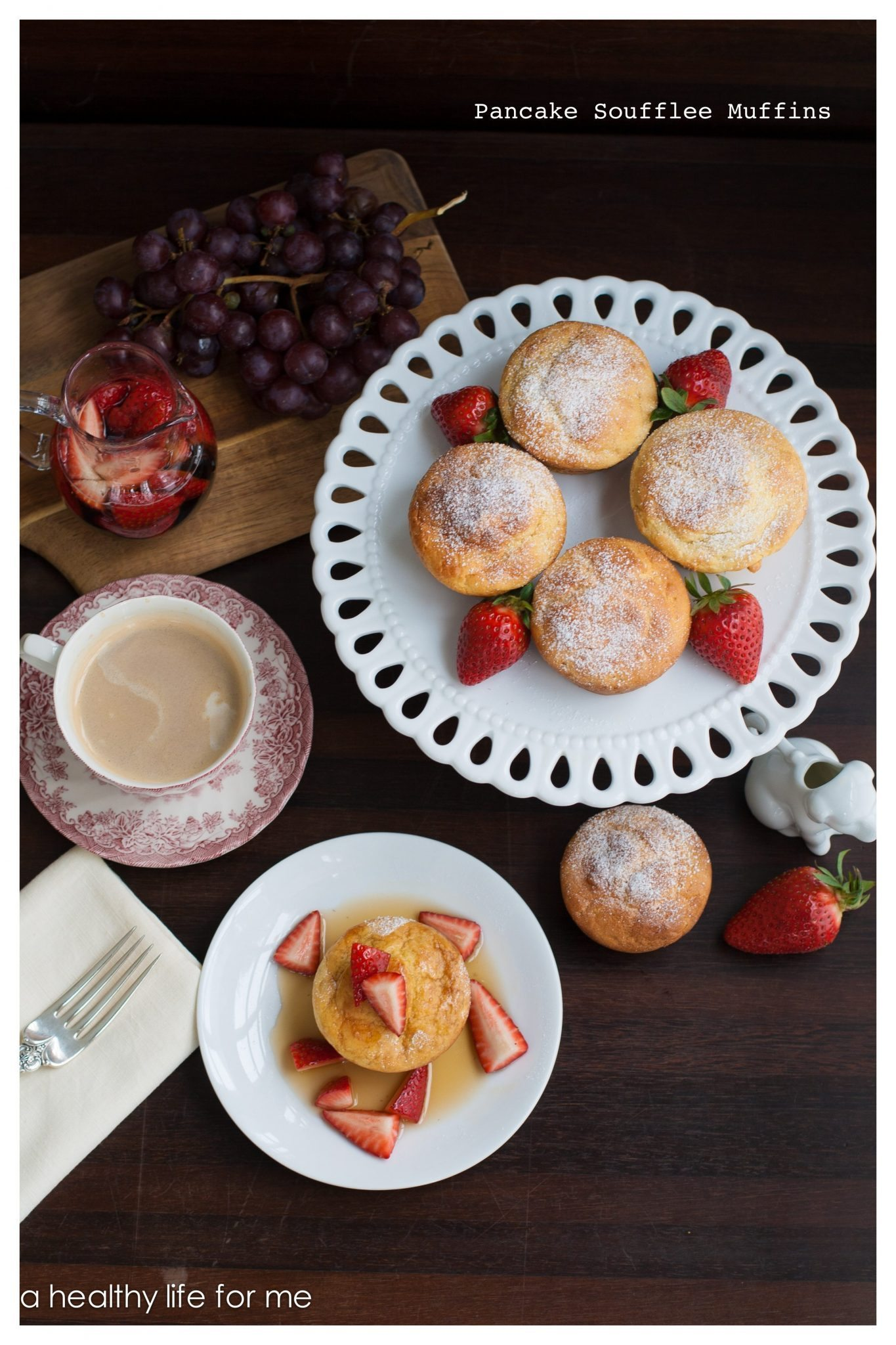 Pancake Souffle Muffins with Strawberry Maple Syrup the perfect Sunday ...