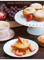 Pancake Souffle Muffins with Strawberry Maple Syrup the perfect Sunday breakfast or brunch recipe | ahealthylifeforme.com
