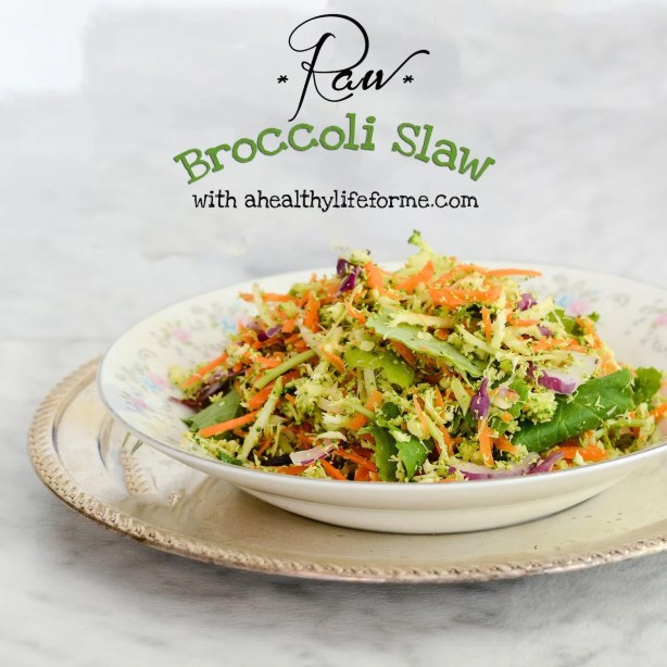 Raw Broccoli Slaw Recipe | ahealthylifeforme.com