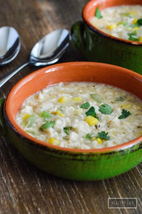 Crab Chowder is loaded with crab, corn, and gluten free gnocchi. | ahealthylifeforme.com
