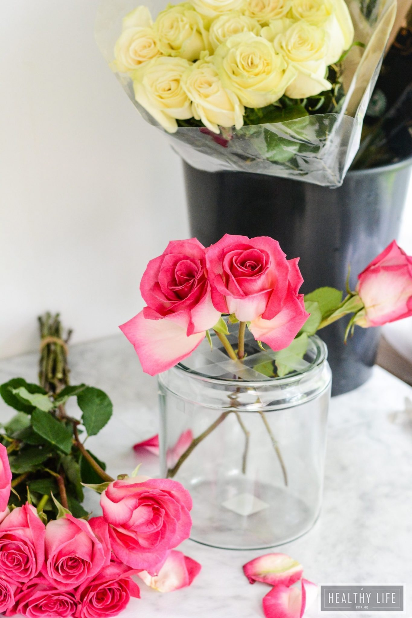 Diy rose flower centerpiece a healthy life for me