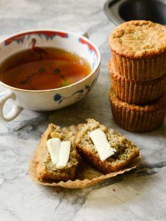 Paleo Banana Poppy Seed Muffins {gluten free + vegetarian}