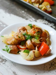 Paleo One Pan Roasted Vegetable and Sausage