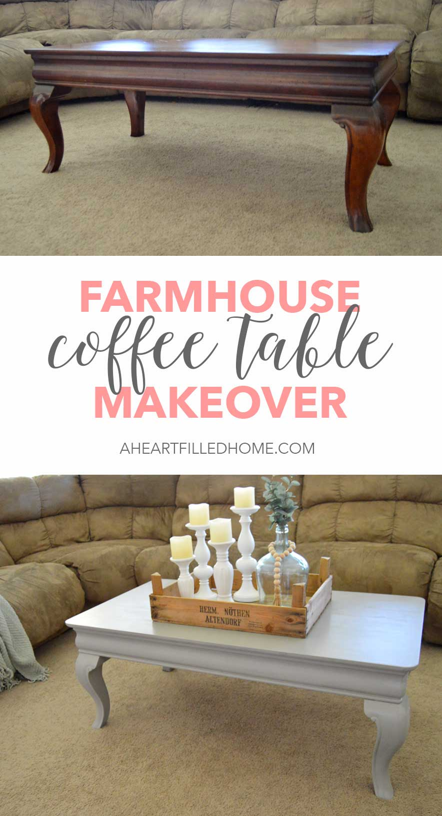 Beautiful Coffee Table Farmhouse Coffee Table Makeover A Heart Filled Home Diy Home
