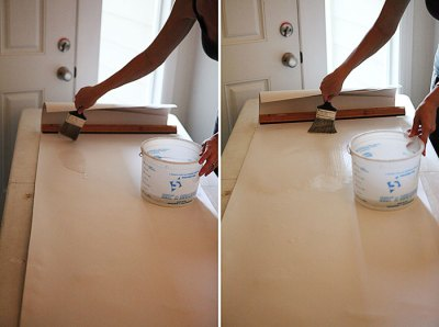 How to: apply wallpaper lining using wall size adhesive