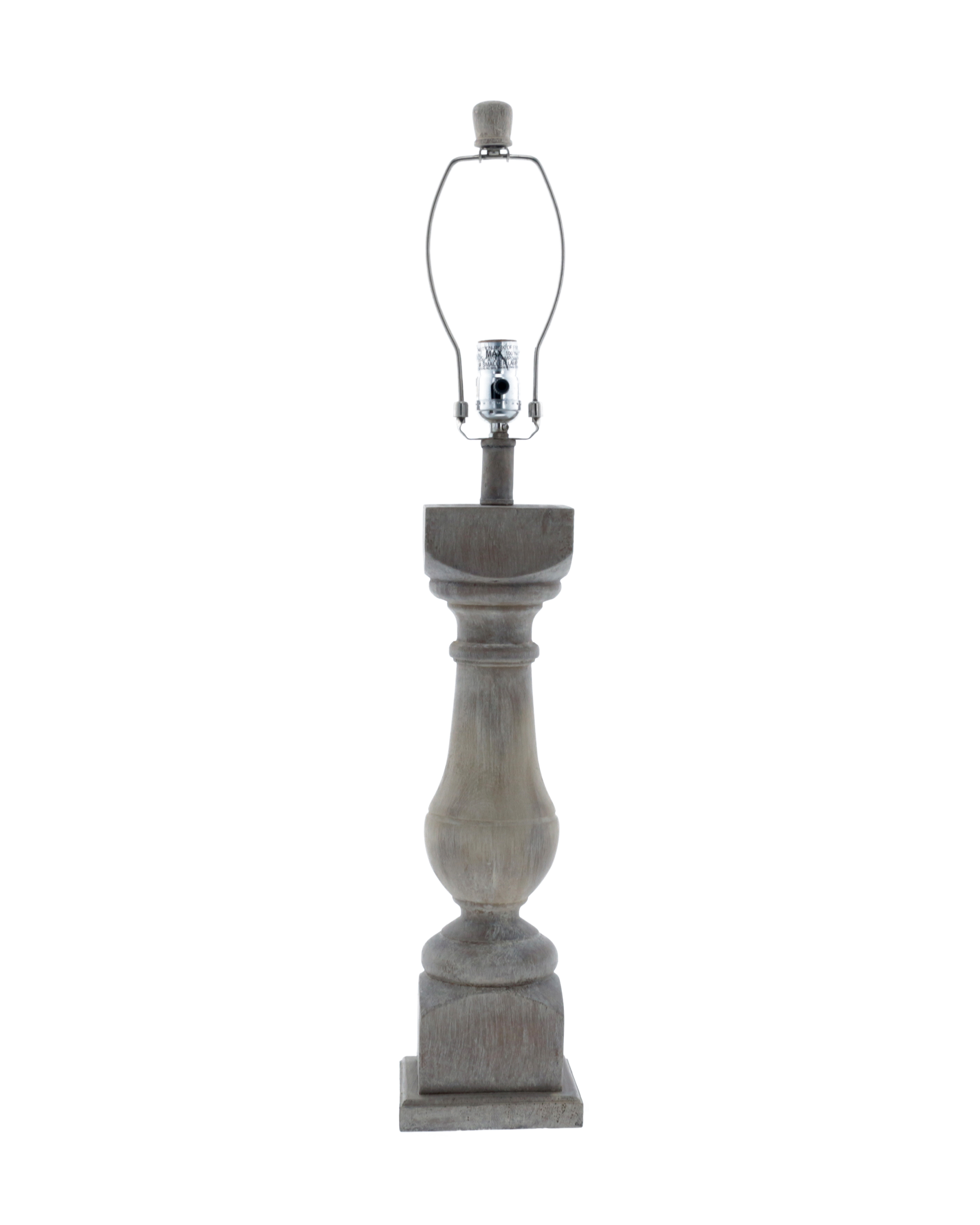 Table Lamp Base Rhone Washed Wood Finish 31 Table Lamp Base Only L2840ww Wholesale Lamps Shades Bulbs Ahs Lighting Wholesaler Value Priced Accent Floor