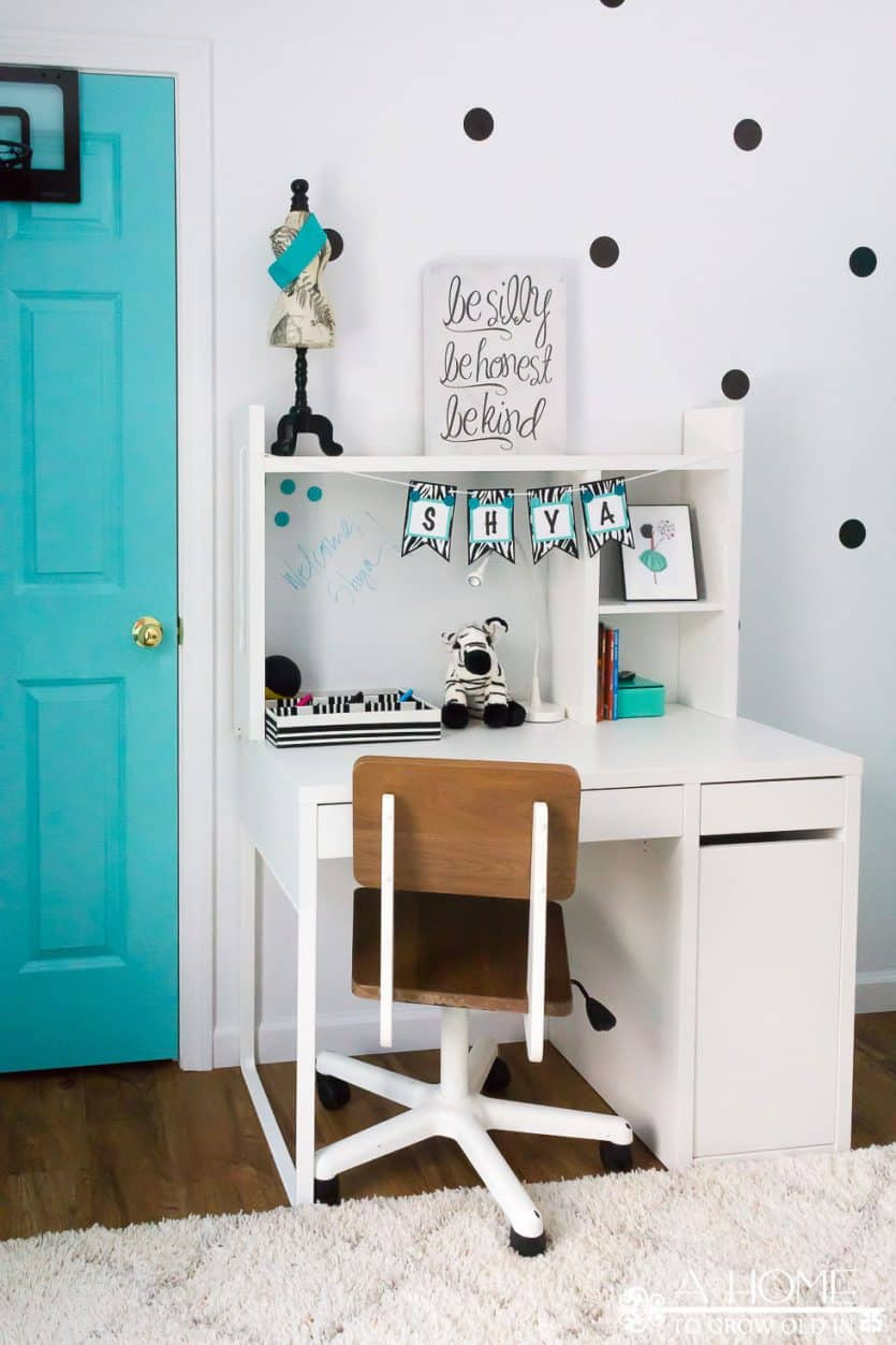 Teal Pictures Bedroom Teal Black And White Girl S Bedroom Reveal With Bloggers Heart